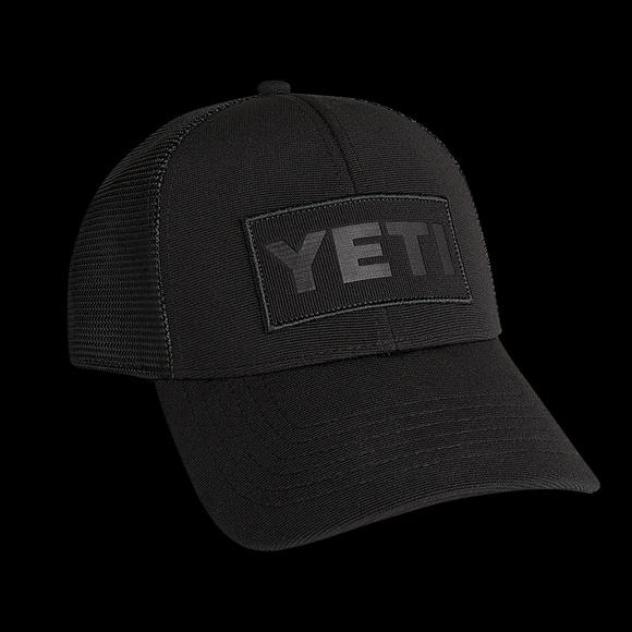 ae55e2e1c93ad Yeti Patch Trucker Hat- Black